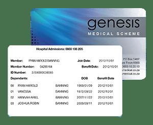 Genesis Medical Scheme Electronic Membership Card