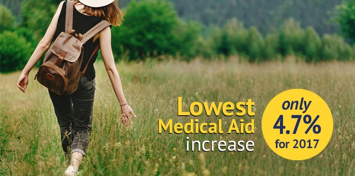 Lowest Medical Aid Increase
