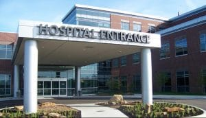 hospital entrance outside