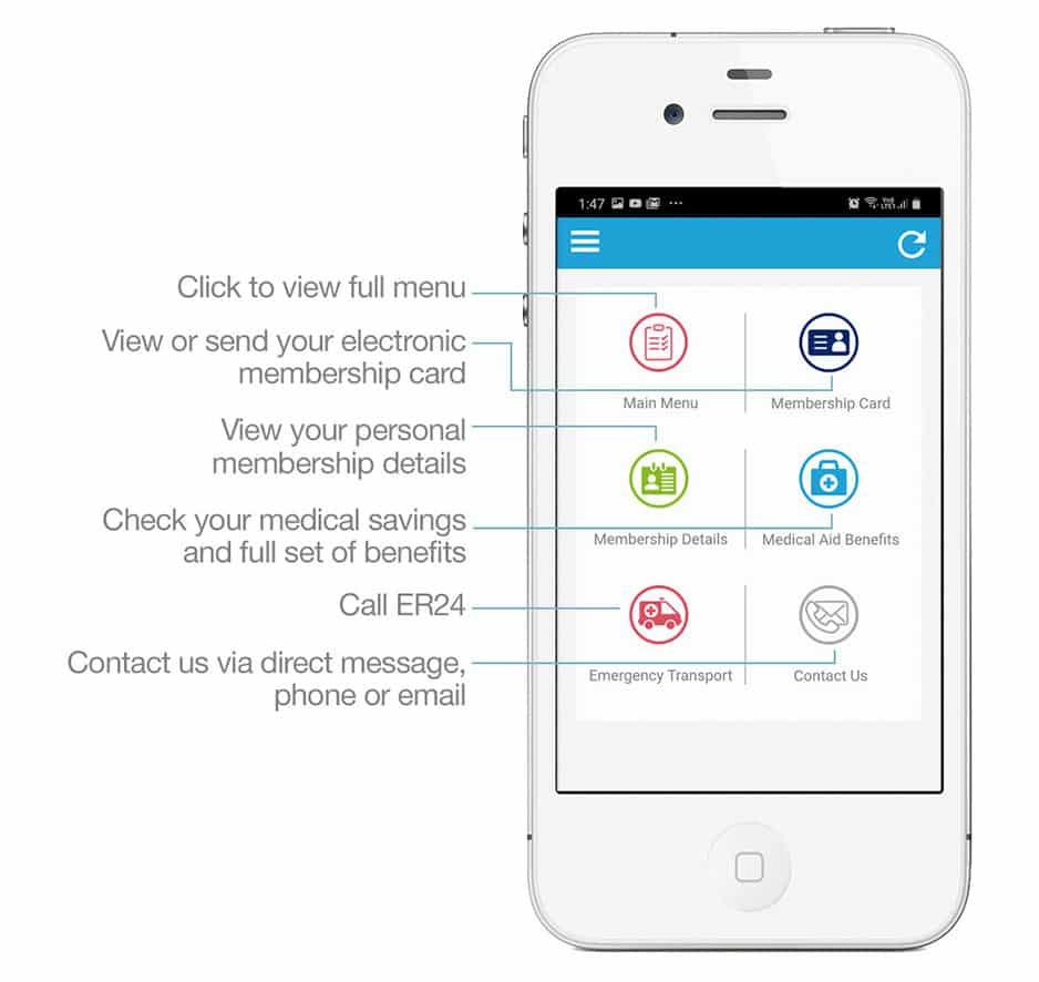 genesis medical scheme smartphone app home screen 1