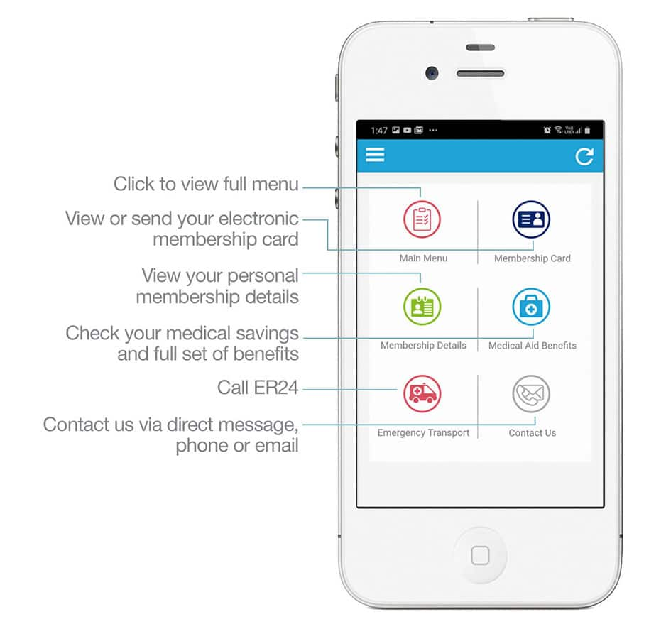 genesis medical scheme smartphone app home screen 1