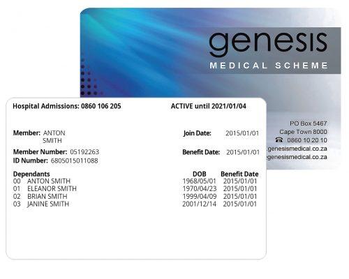 genesis electronic membership card